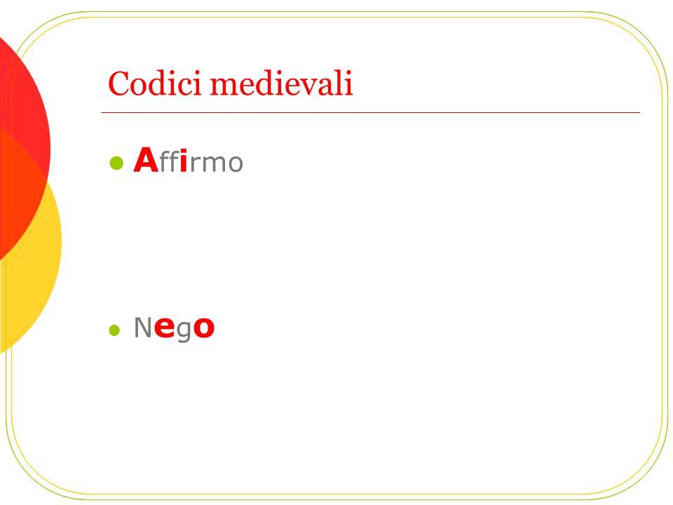 Codici medievali Affirmo Nego