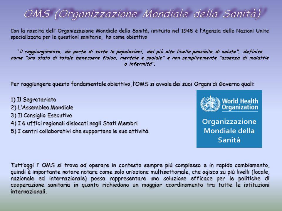 OMS (Organizzazione Mondiale della Sanità)