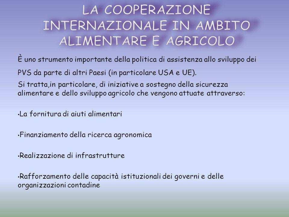 La cooperazione internazionale in ambito alimentare e agricolo