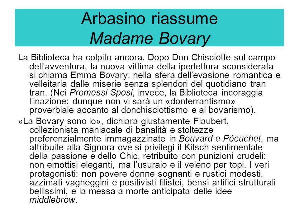 Arbasino riassume Madame Bovary