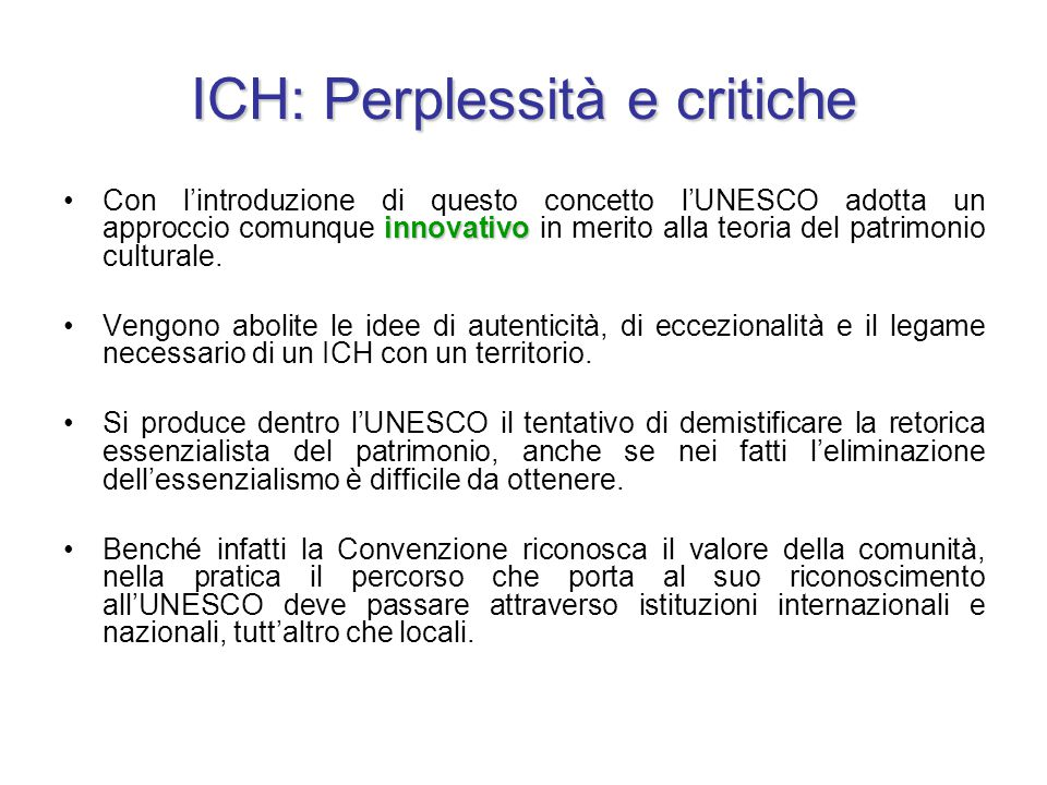 ICH: Perplessità e critiche