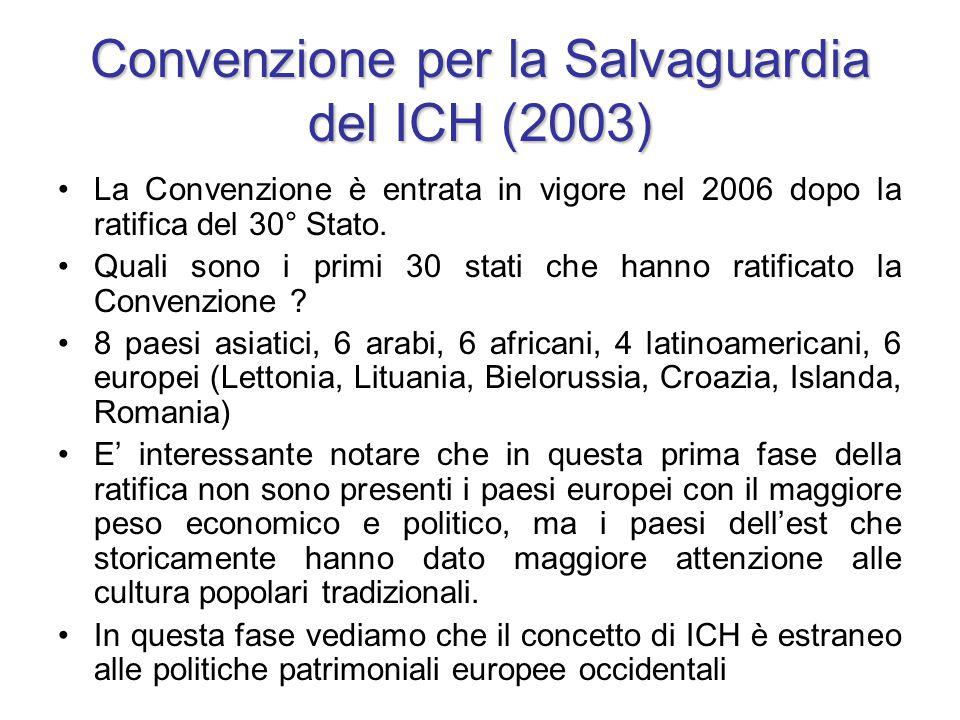Convenzione per la Salvaguardia del ICH (2003)