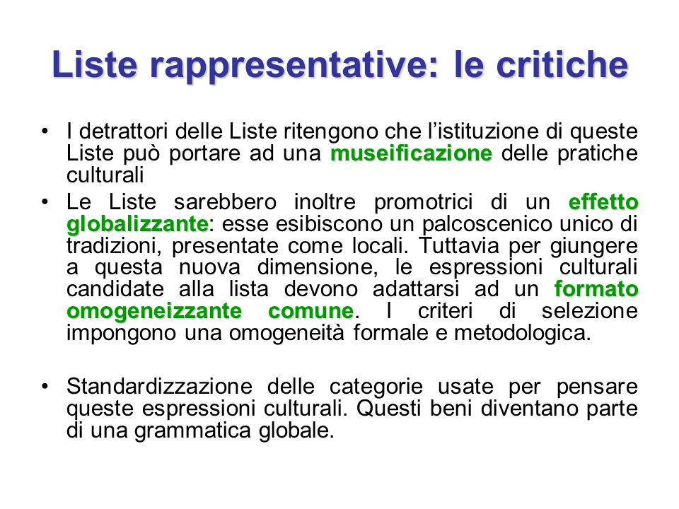 Liste rappresentative: le critiche