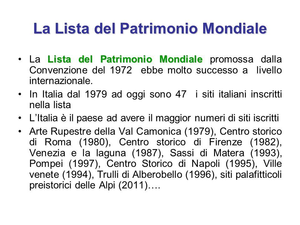 La Lista del Patrimonio Mondiale