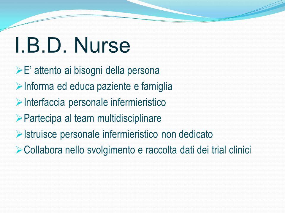 I.B.D. Nurse E' attento ai bisogni della persona