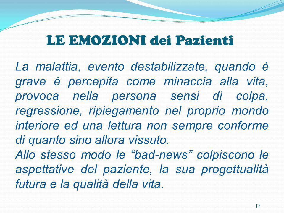 LE EMOZIONI dei Pazienti