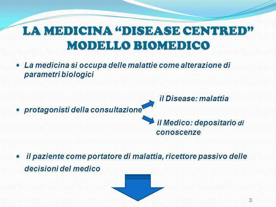 LA MEDICINA DISEASE CENTRED MODELLO BIOMEDICO