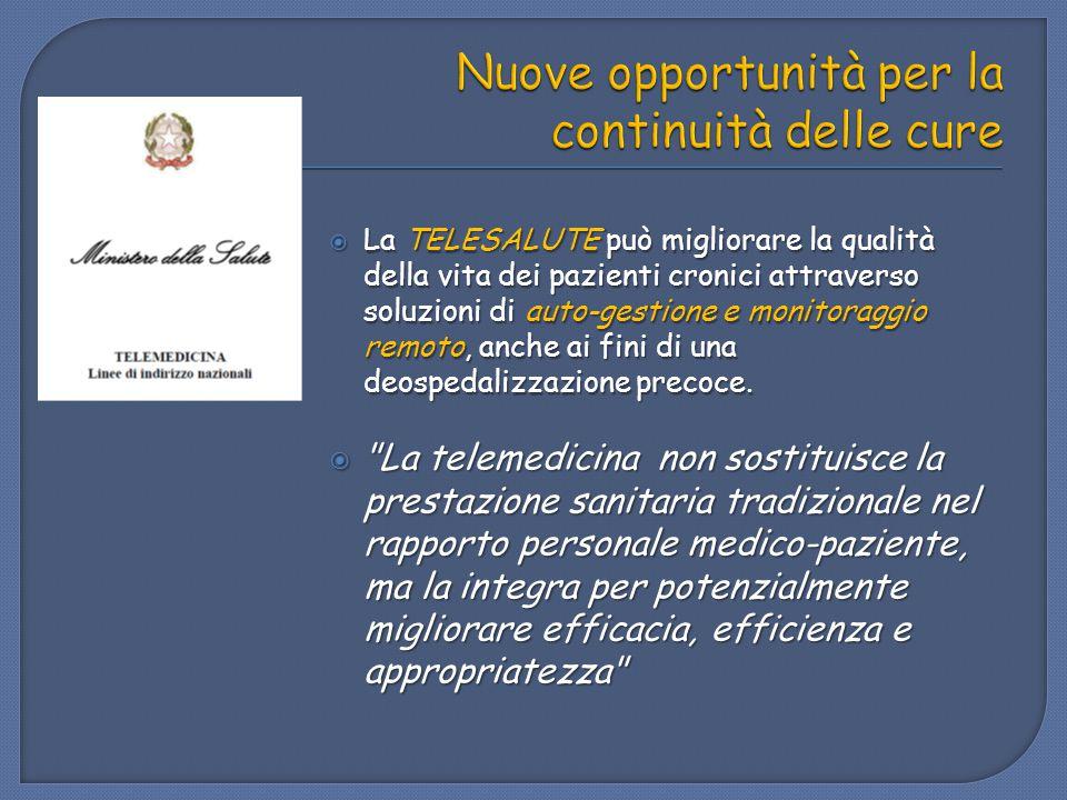Nuove opportunità per la continuità delle cure