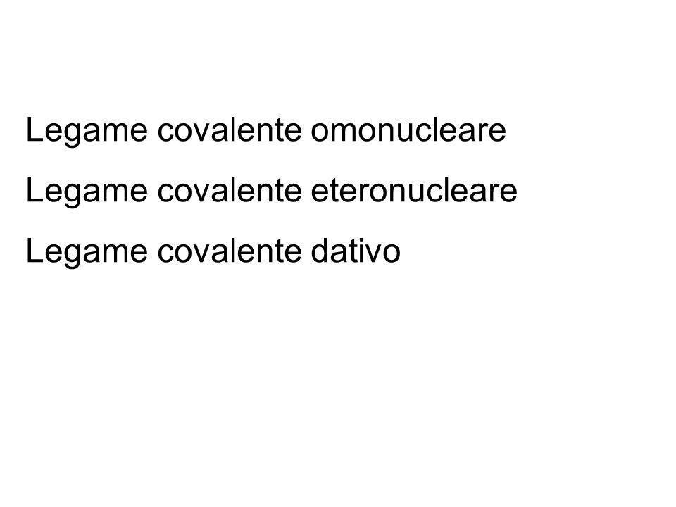 Legame covalente omonucleare