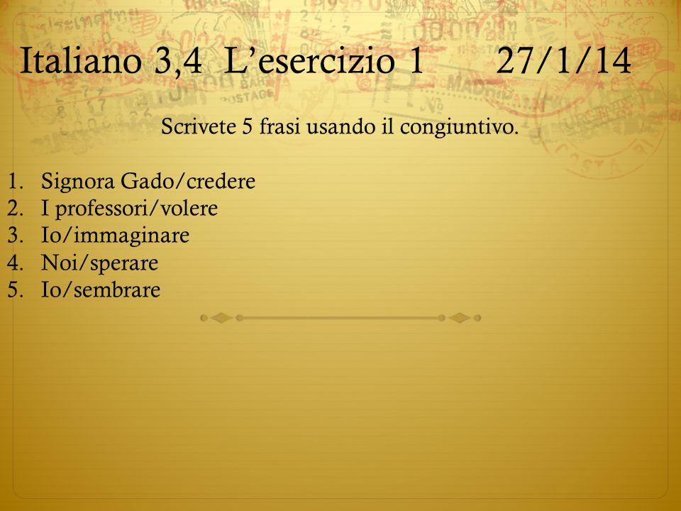 Italiano 3,4 L'esercizio 1 27/1/14