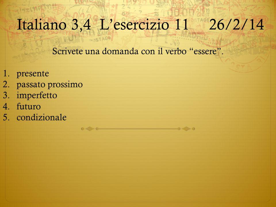 Italiano 3,4 L'esercizio 11 26/2/14
