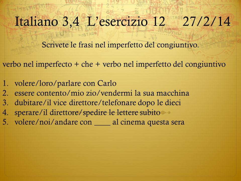 Italiano 3,4 L'esercizio 12 27/2/14