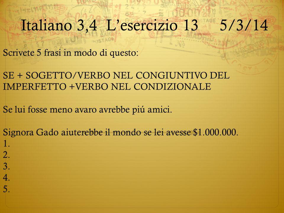 Italiano 3,4 L'esercizio 13 5/3/14