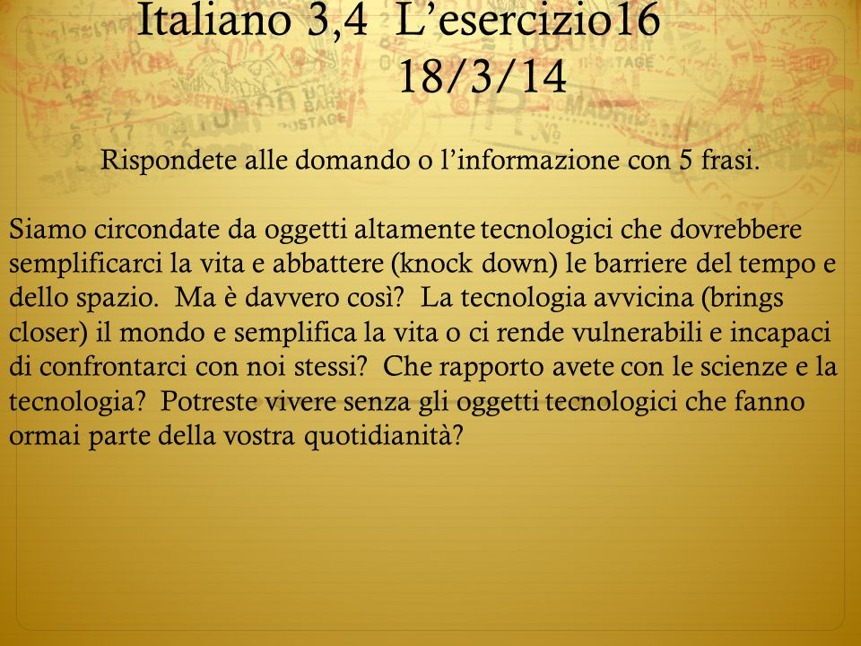 Italiano 3,4 L'esercizio16 18/3/14