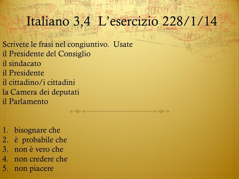 Italiano 3,4 L'esercizio 2 28/1/14
