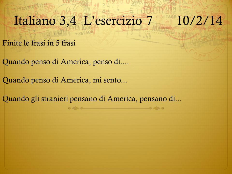 Italiano 3,4 L'esercizio 7 10/2/14