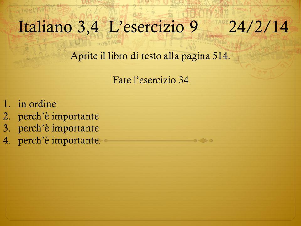 Italiano 3,4 L'esercizio 9 24/2/14