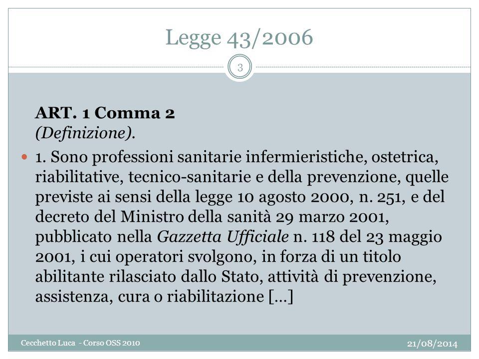 Legge 43/2006 ART. 1 Comma 2 (Definizione).