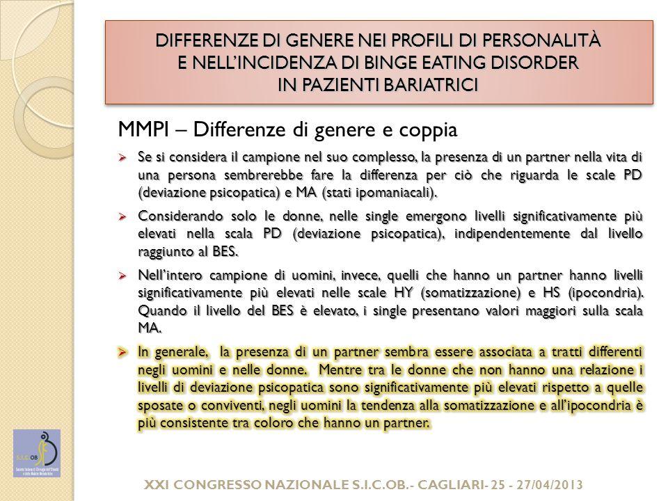 XXI CONGRESSO NAZIONALE S.I.C.OB. - CAGLIARI- 25 - 27/04/2013