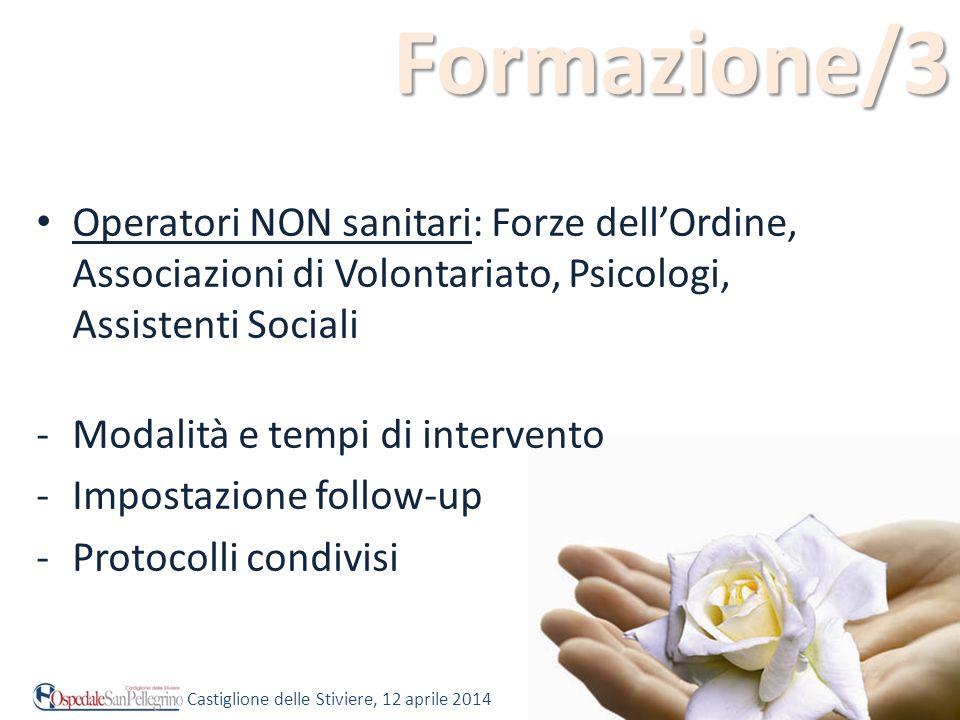 Formazione/3 Operatori NON sanitari: Forze dell'Ordine, Associazioni di Volontariato, Psicologi, Assistenti Sociali.