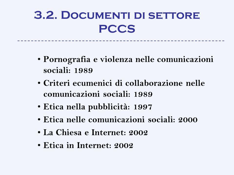 3.2. Documenti di settore PCCS