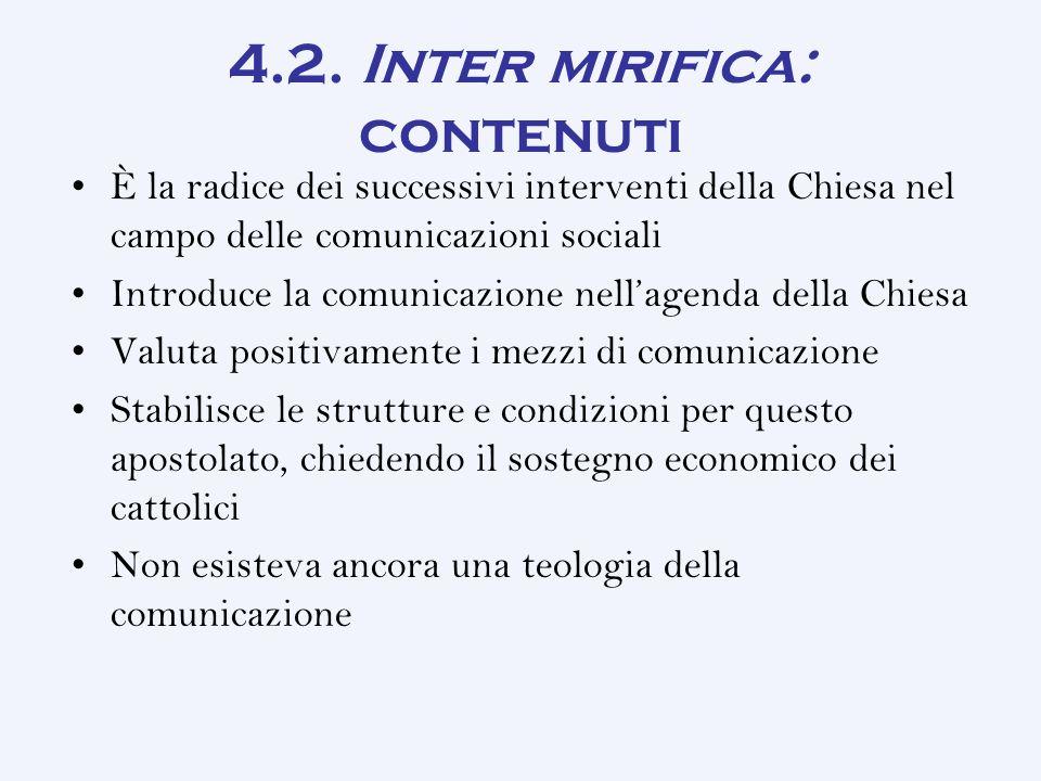 4.2. Inter mirifica: contenuti