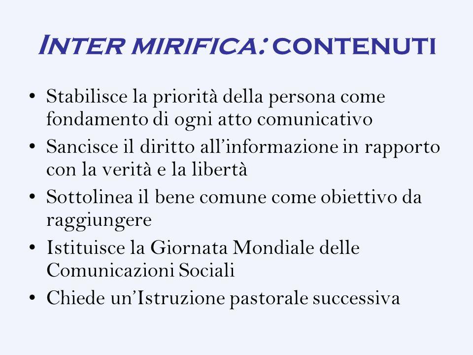Inter mirifica: contenuti