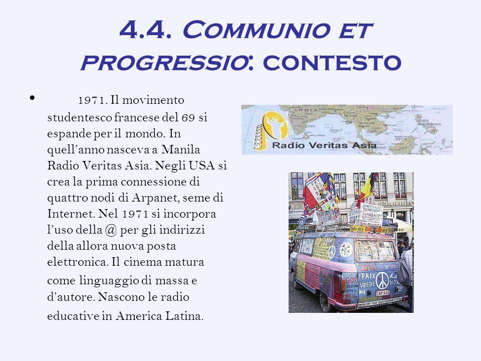 4.4. Communio et progressio: contesto