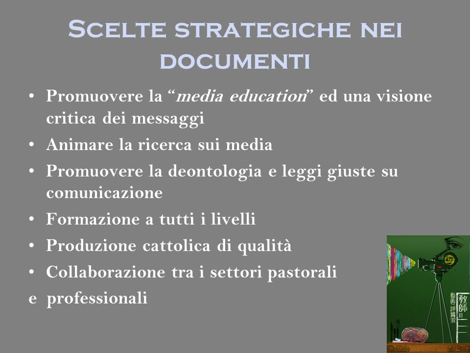 Scelte strategiche nei documenti
