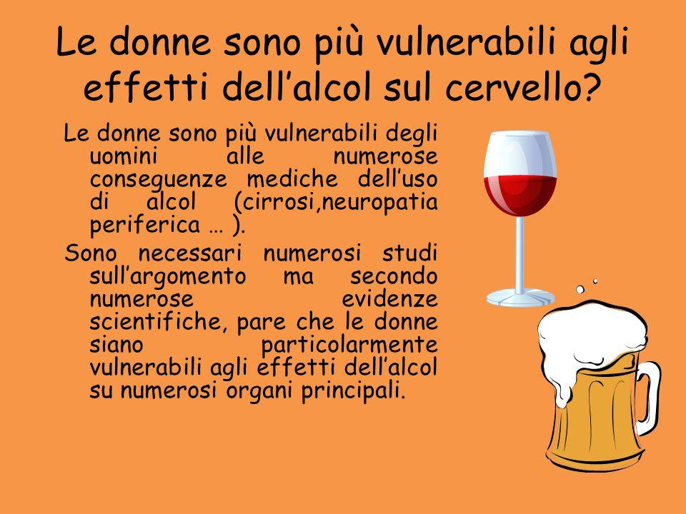 Le donne sono più vulnerabili agli effetti dell'alcol sul cervello