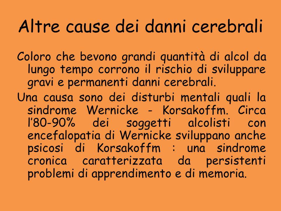Altre cause dei danni cerebrali