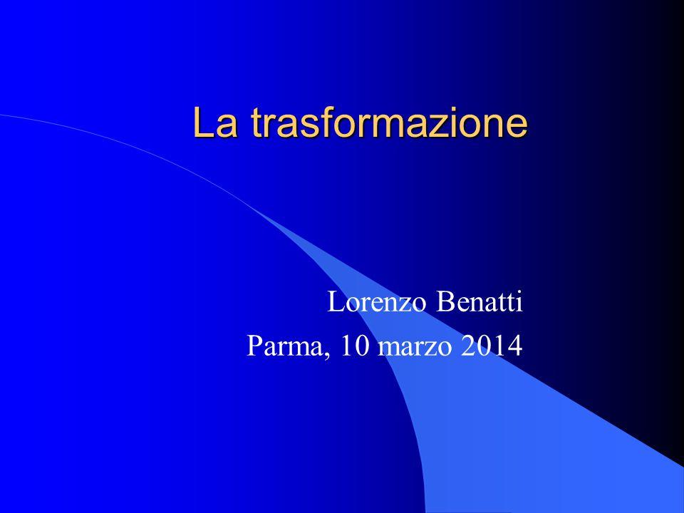Lorenzo Benatti Parma, 10 marzo 2014