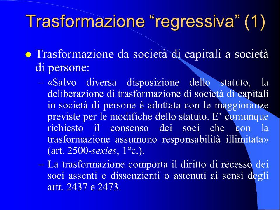 Trasformazione regressiva (1)