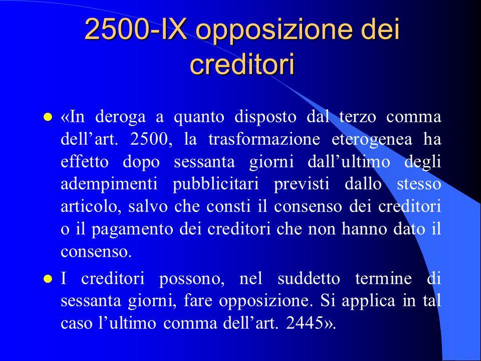 2500-IX opposizione dei creditori