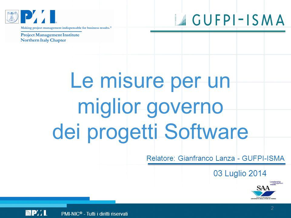 Le misure per un miglior governo dei progetti Software