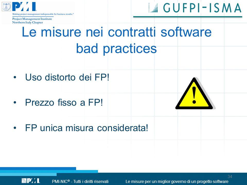 Le misure nei contratti software bad practices