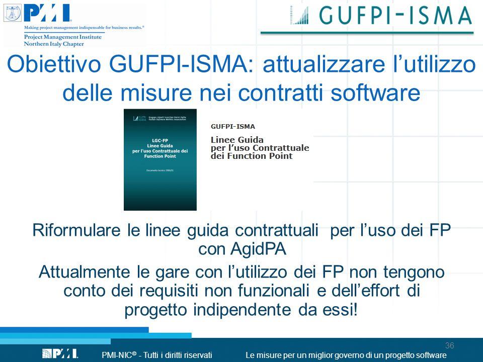 Obiettivo GUFPI-ISMA: attualizzare l'utilizzo delle misure nei contratti software