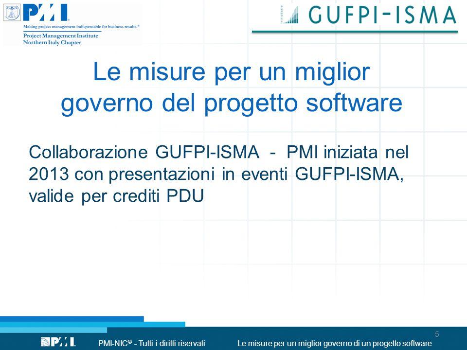 Le misure per un miglior governo del progetto software