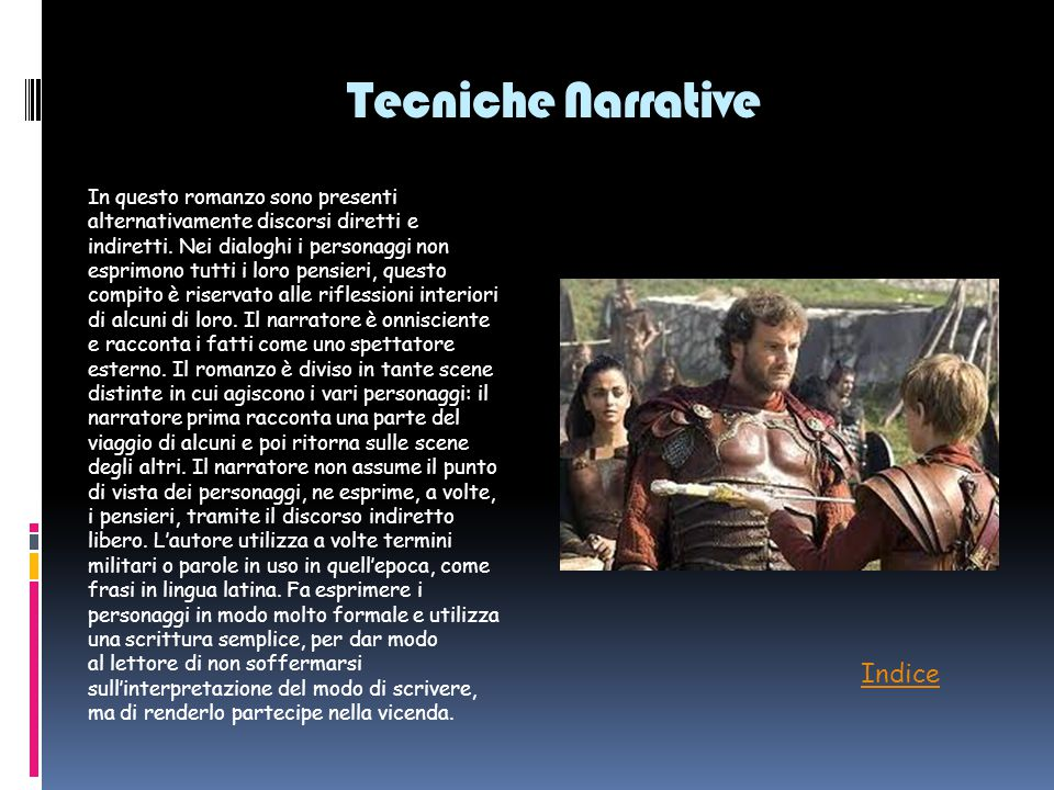 Tecniche Narrative Indice