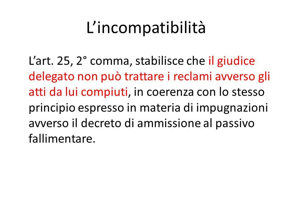 L'incompatibilità