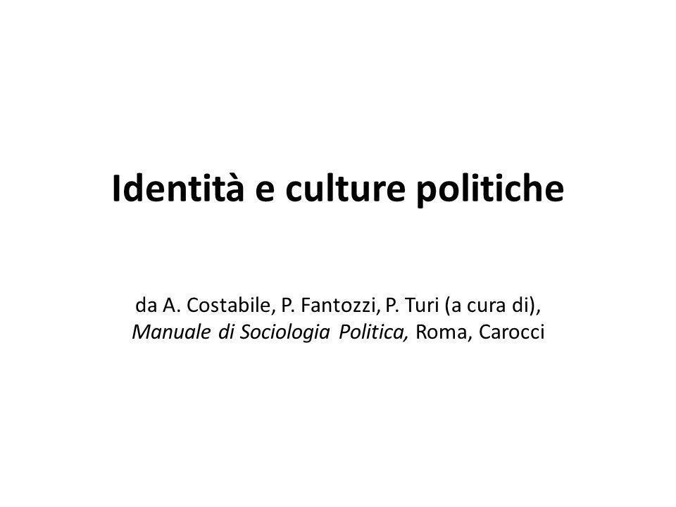 Identità e culture politiche