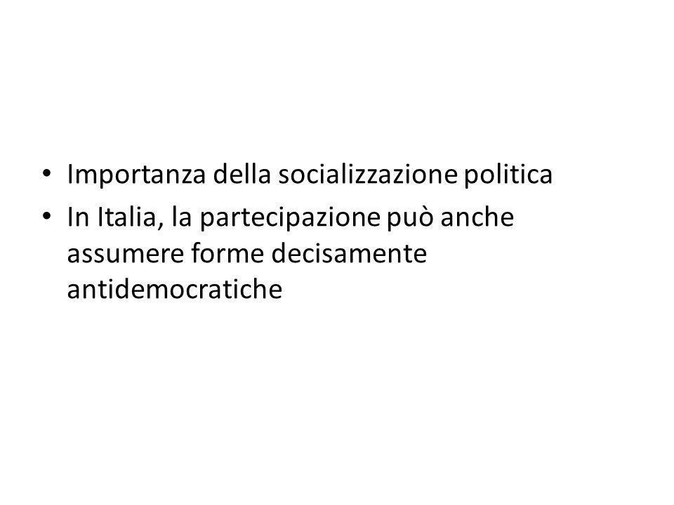Importanza della socializzazione politica