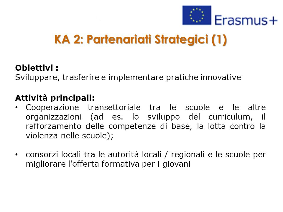 KA 2: Partenariati Strategici (1)