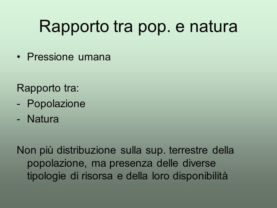 Rapporto tra pop. e natura