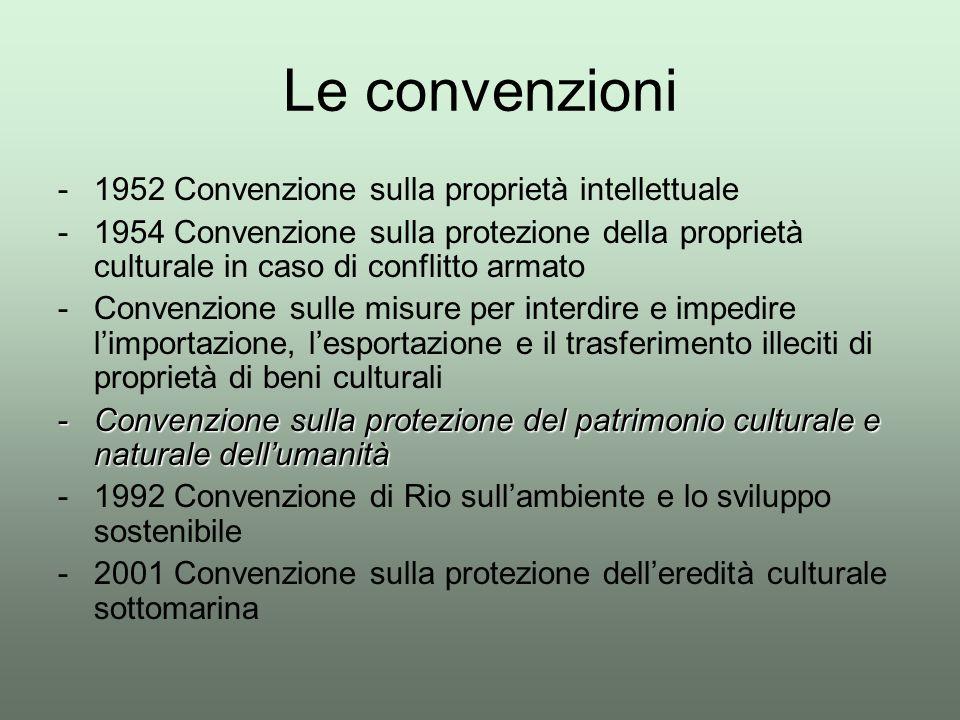 Le convenzioni 1952 Convenzione sulla proprietà intellettuale