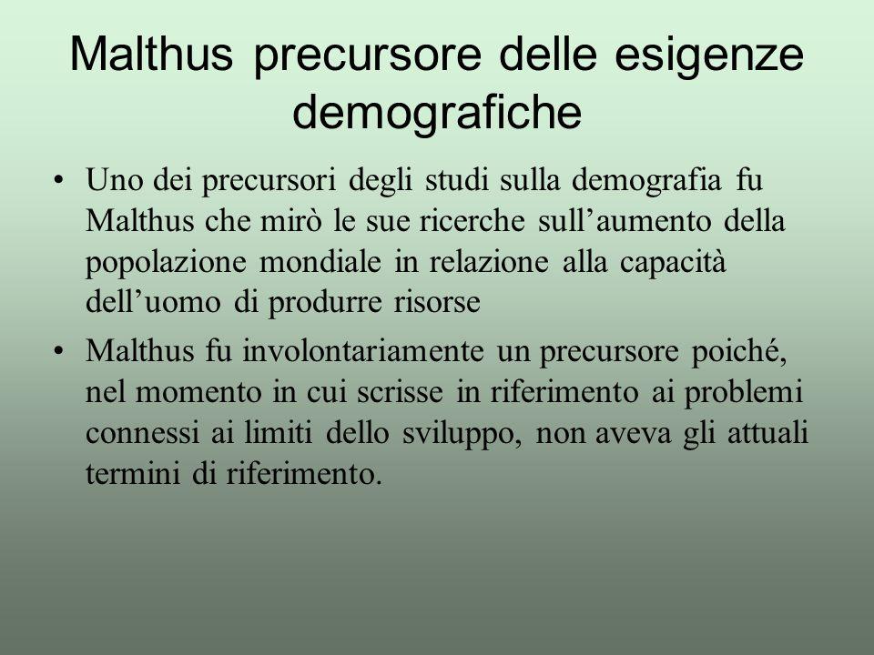 Malthus precursore delle esigenze demografiche