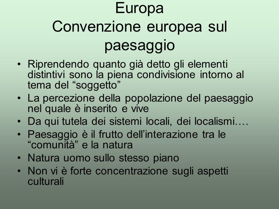 Europa Convenzione europea sul paesaggio