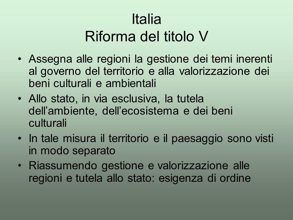 Italia Riforma del titolo V