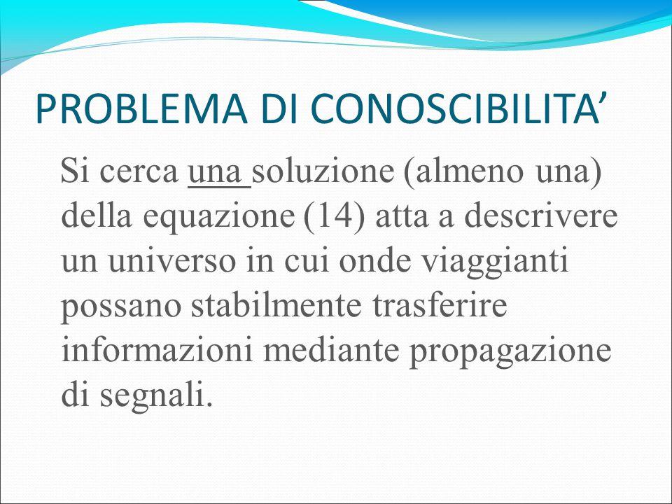 PROBLEMA DI CONOSCIBILITA'