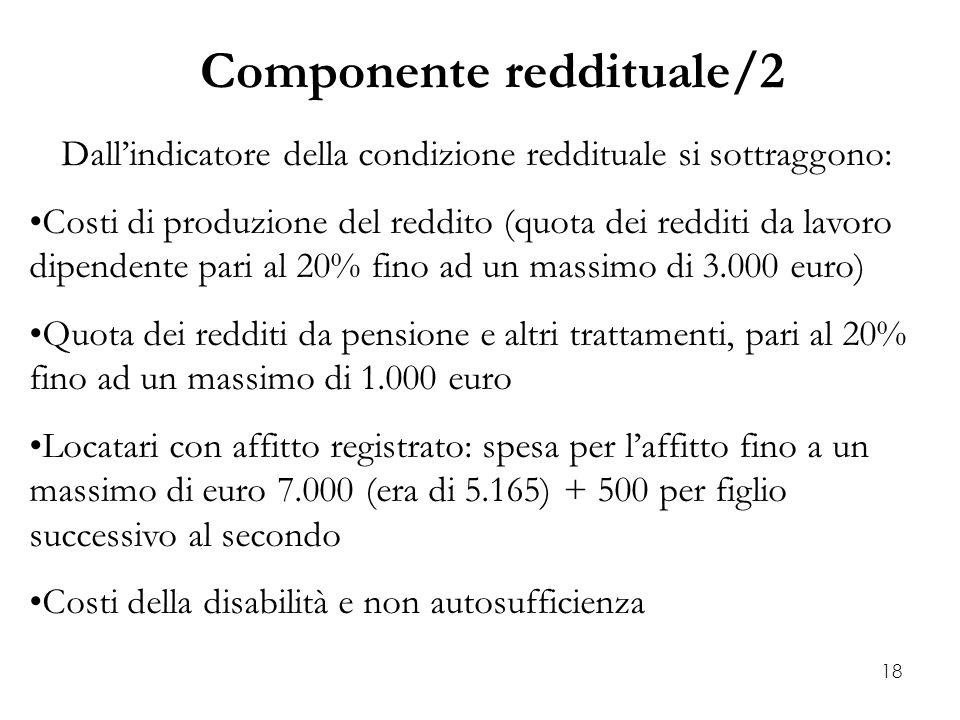 Componente reddituale/2